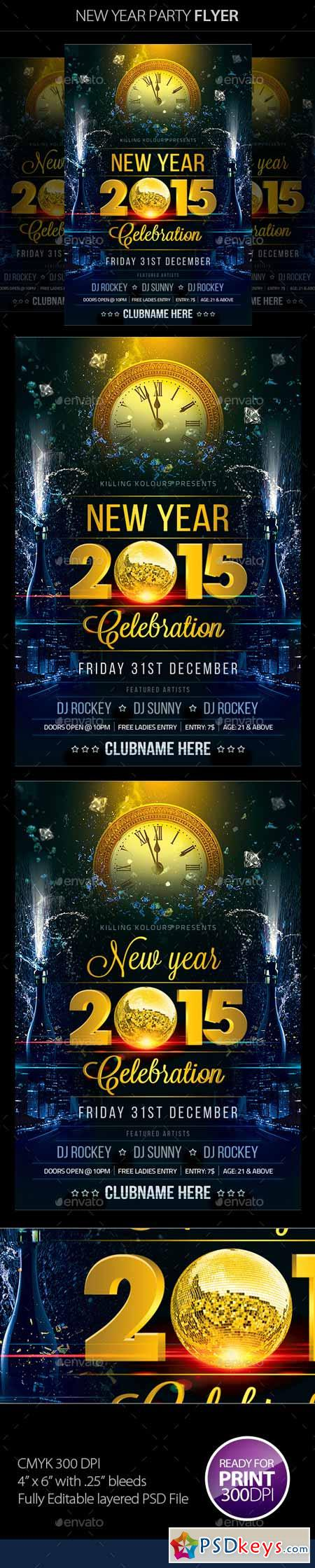 New Year Party Flyer 9651520