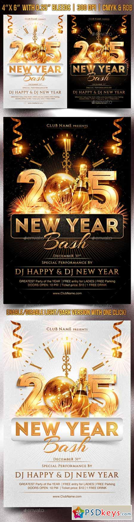 New Year Bash Flyer Template 9582439