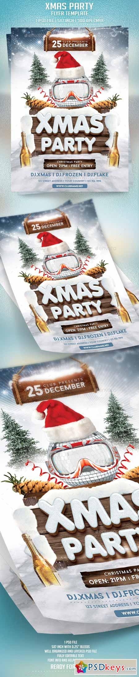 Xmas Party Flyer Template 9431140