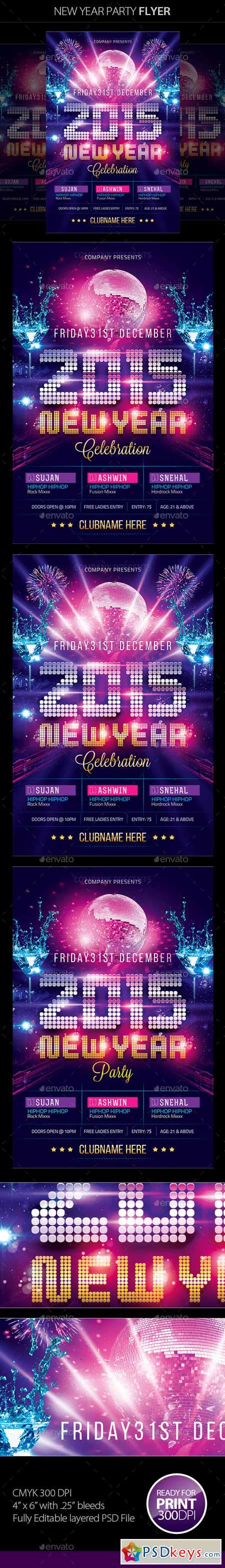New Year Party Flyer 9522866
