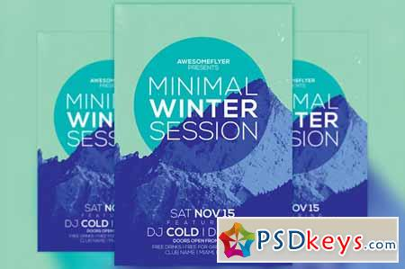 Minimal Winter Party Flyer Template 100564 Free Download Photoshop