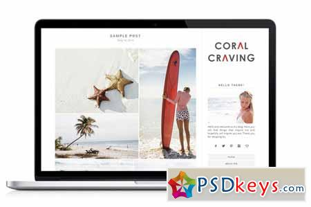 Responsive WP Theme - Coral Craving 43308