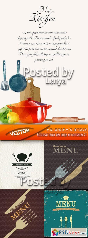 Stock Vector - Restaurant vintage menu design with ...