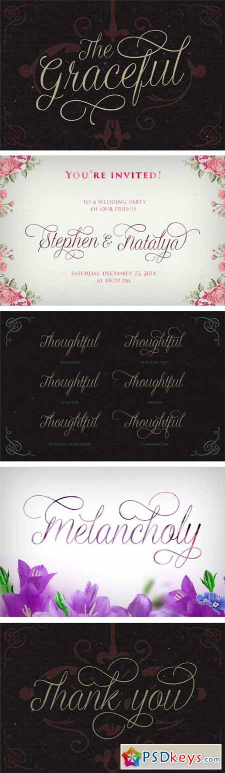Graceful Font $19