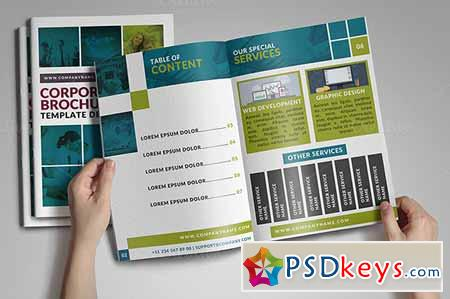 Page Corporate Bifold Brochure Free Download - 8 page brochure template
