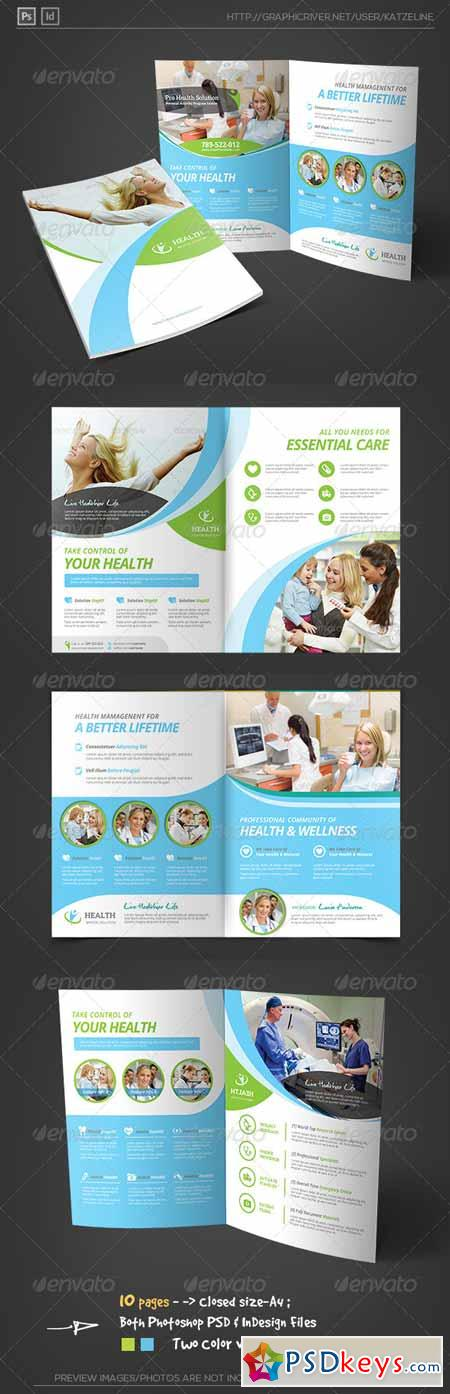 Health Medical Care - Bifold Brochure Template 8469103
