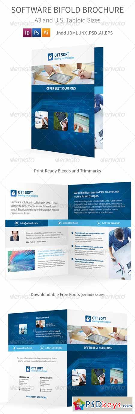 IT and Software Bifold Halffold Brochure 8591699