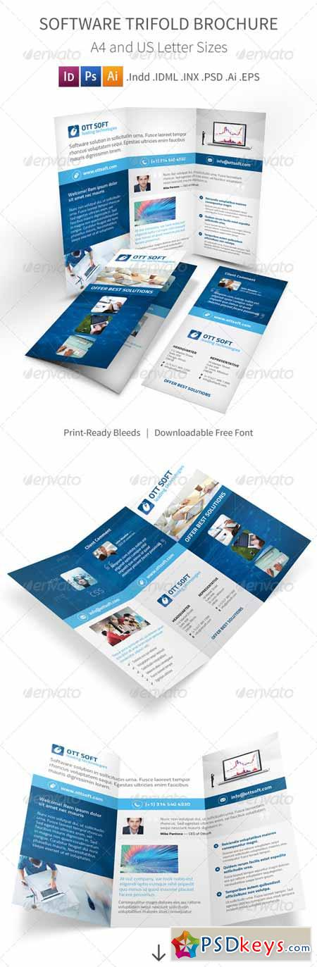 IT and Software Trifold Brochure 8232651