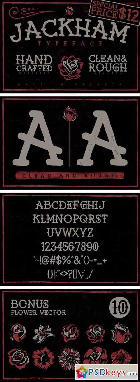 Jackham Font Family - 2 Fonts $12