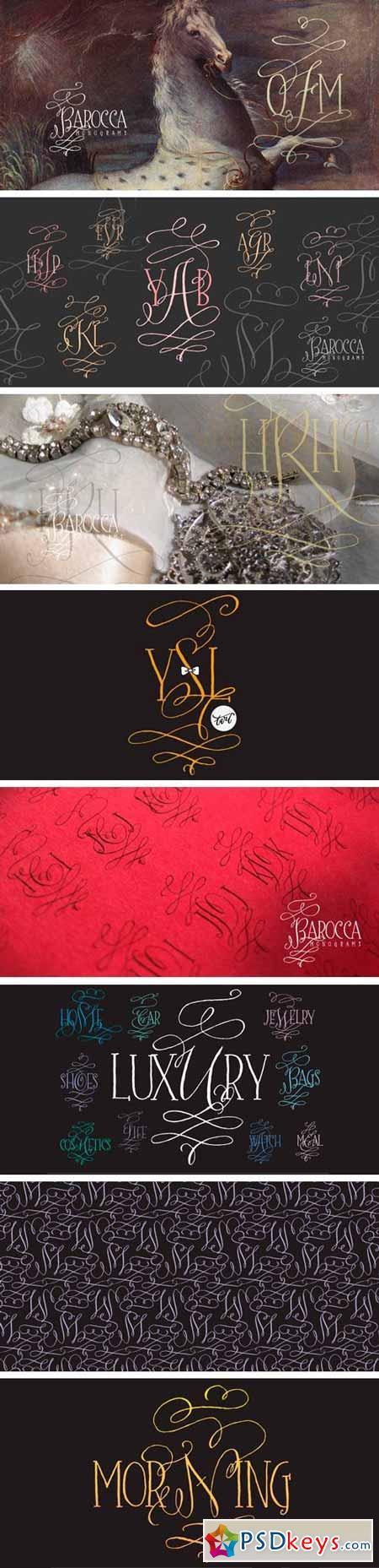 Barocca Monograms Font $30