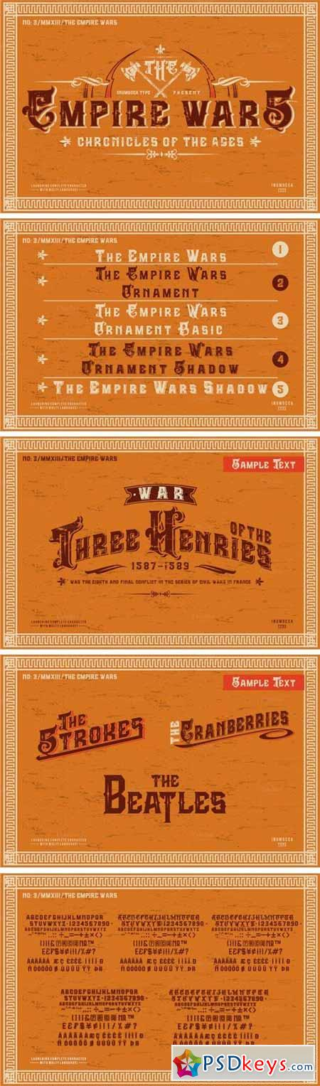 The Empire Wars Font Family - 5 Fonts $20