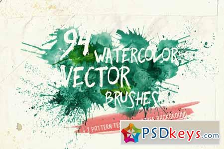 Watercolor Vector Art Brushes 136007