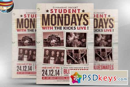 Student Mondays Flyer Template 126273