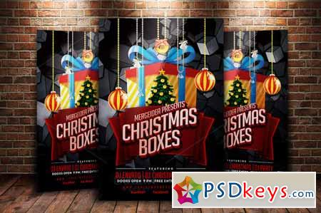 Christmas Boxes Party Flyer 136550