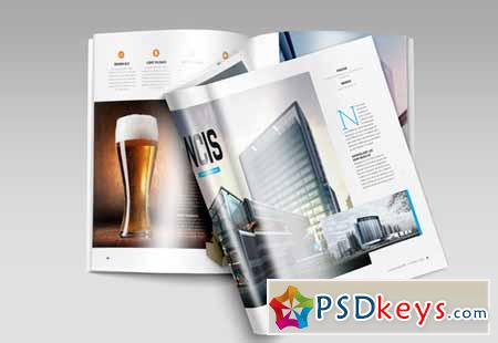 A4 Brochure Magazine Mock-Up 137874