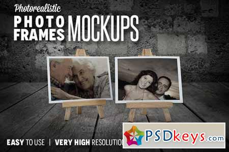 Photorealistic Photo Frames Mokcups 137951