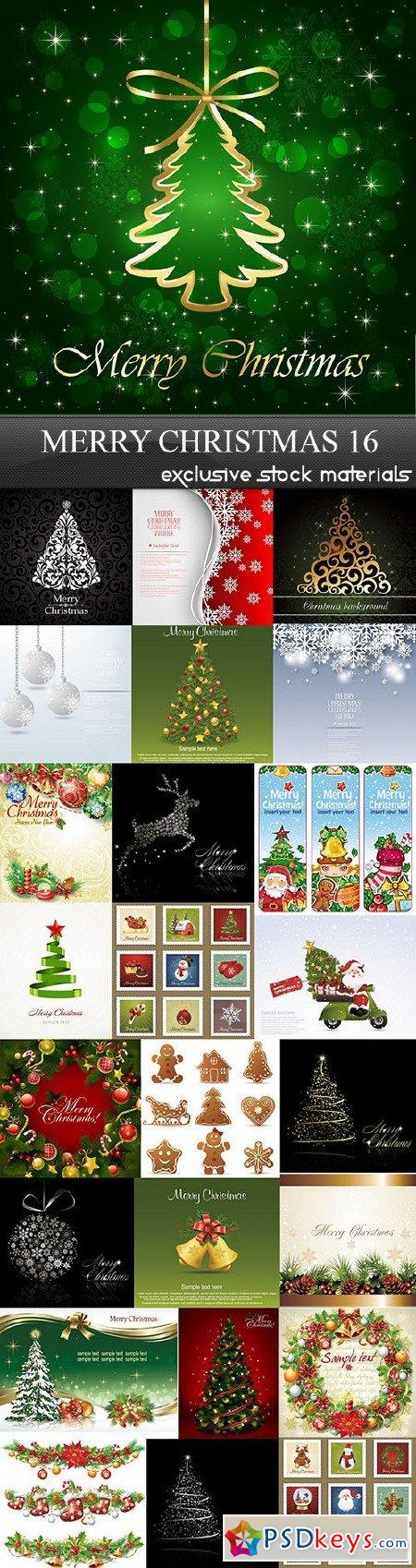 Merry Christmas 16, 25xEPS