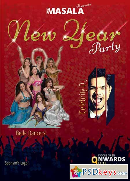 New Year Flyer A3 Size 139469