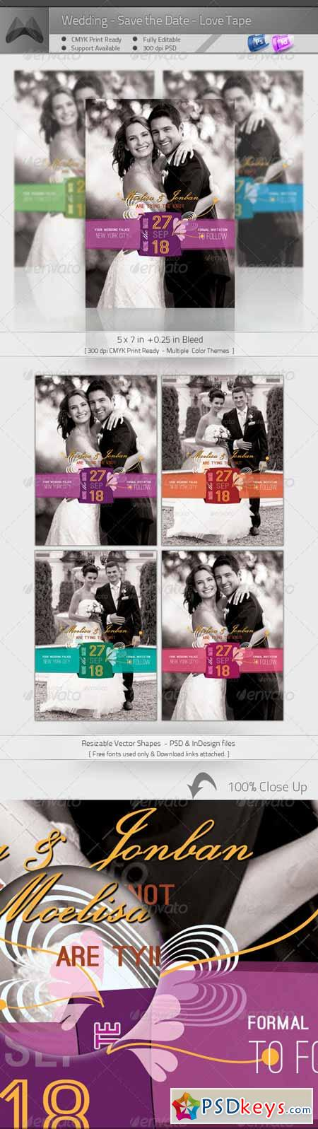 Wedding - Save the Date - Love Tape 4632475