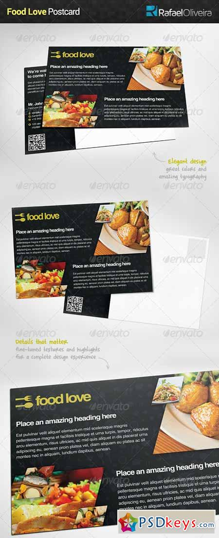Food Love Postcard 6065940