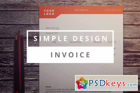 Simple Design Invoice 138105