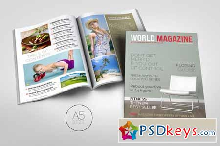 A5 Magazine Template 33991