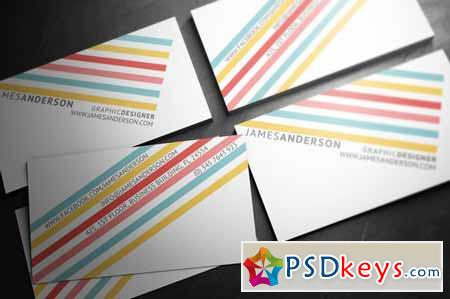 Color Stripes - Business Card 5325