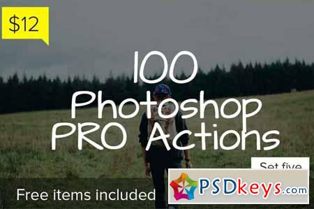 100 Photoshop Pro Actions - Set 5 138783