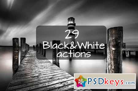 29 Black and White actions 58855