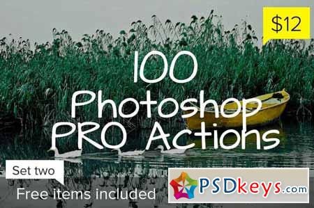 100 Photoshop Pro Actions - Set 2 126346