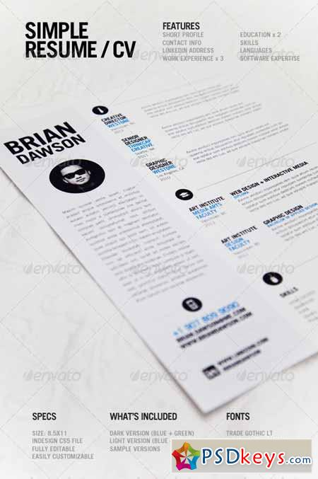 simple resume 3118476  u00bb free download photoshop vector