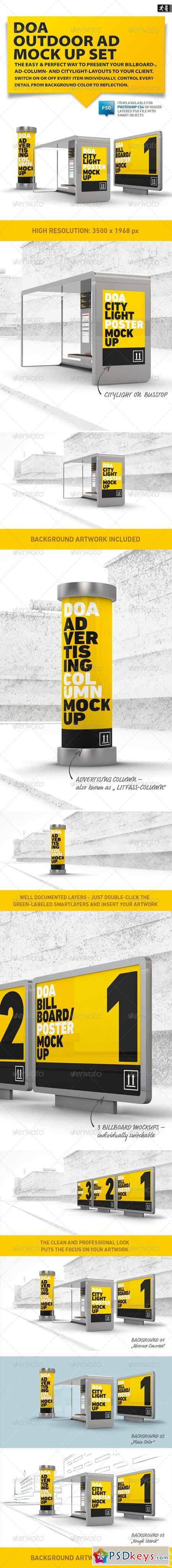 DOA Outdoor Mock Up Set 5012064 » Free Download Photoshop Vector