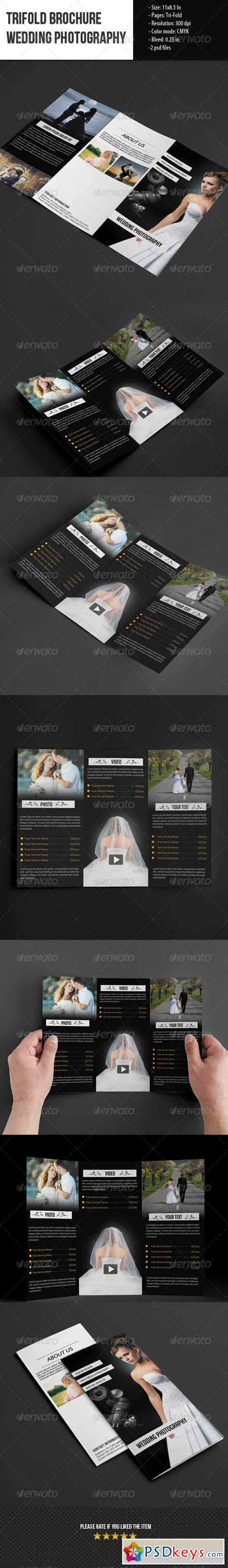 Trifold Brochure for Wedding Photography 5570547