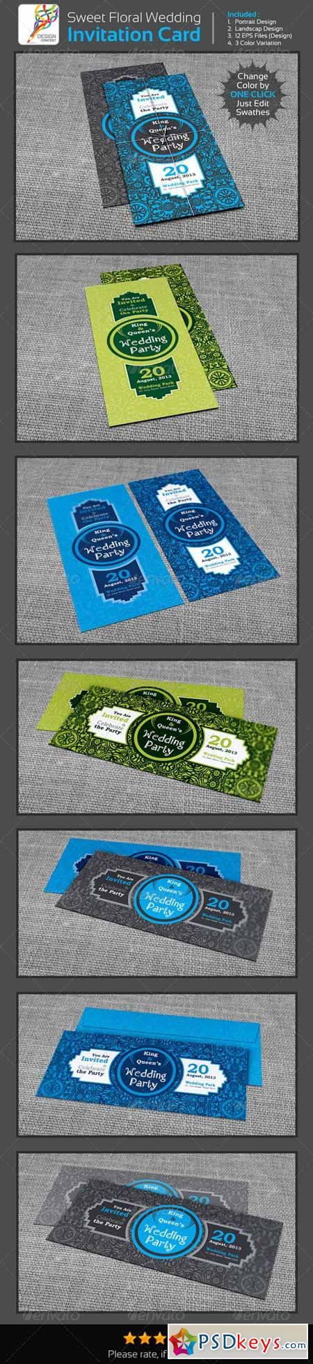Sweet Floral Wedding Engagement Party Invitation 537342