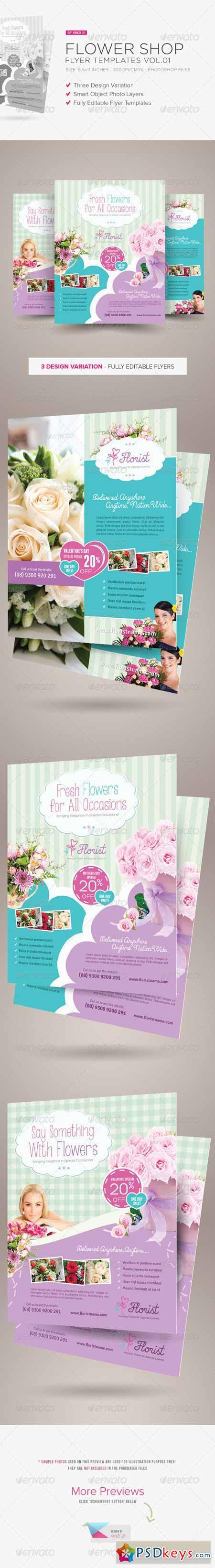 Flower Shop Flyer Templates 6566352