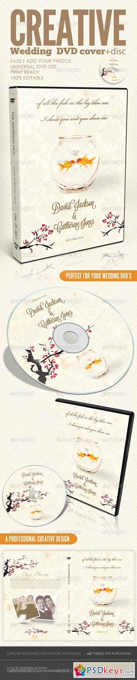Creative Wedding DVD & Disc Label Artwork PSD 3218991