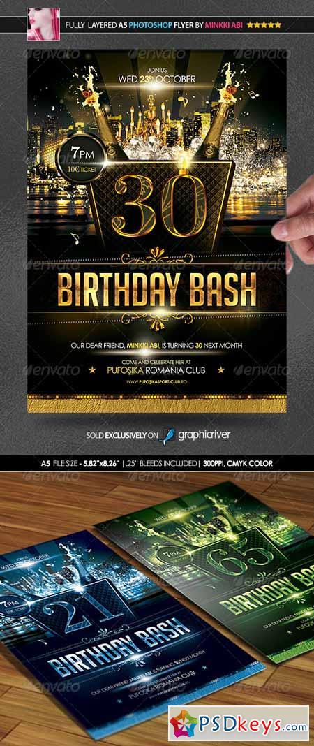 Birthday Bash Poster Flyer 5771096
