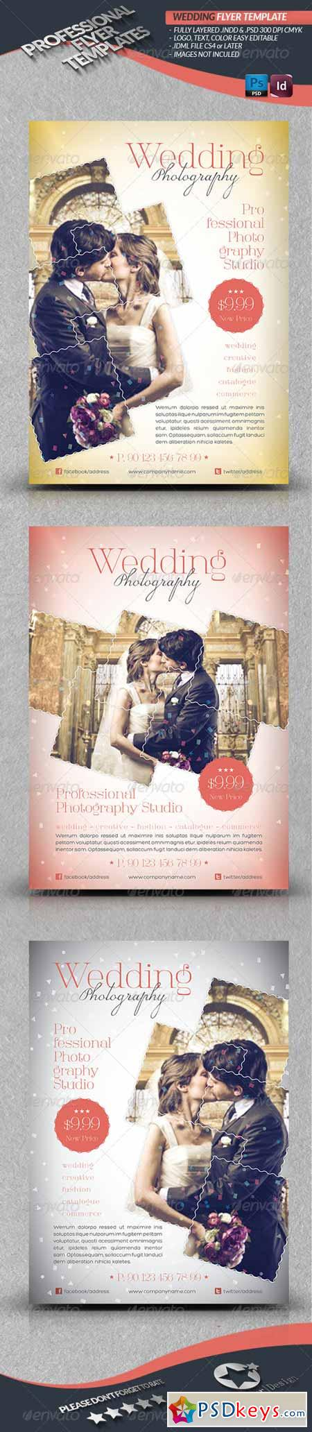 Wedding Photography Flyer Template 4291621