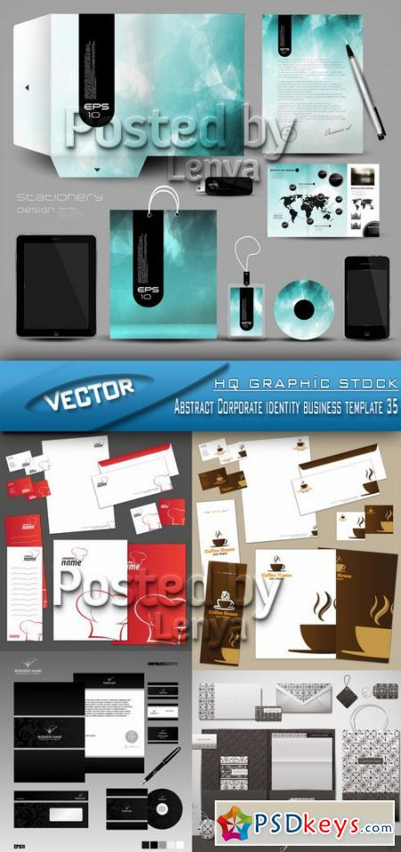 Abstract Corporate identity business template 35