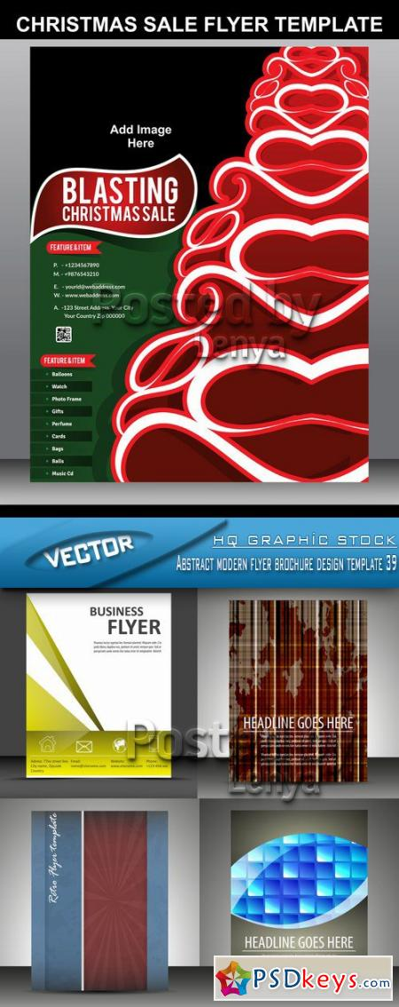 Abstract modern flyer brochure design template 39
