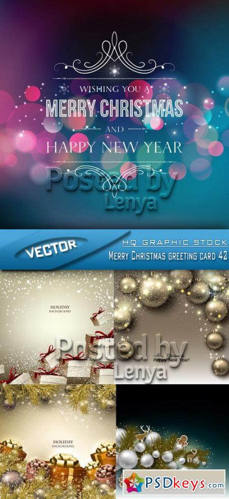 Merry Christmas greeting card 42