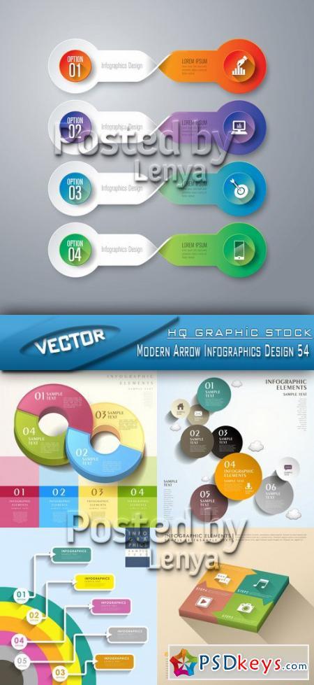 Modern Arrow Infographics Design 54