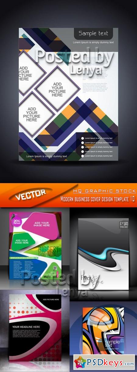 Modern business cover design template 10