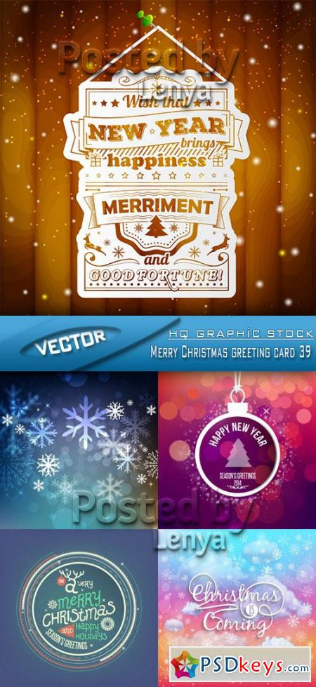 Merry Christmas greeting card 39