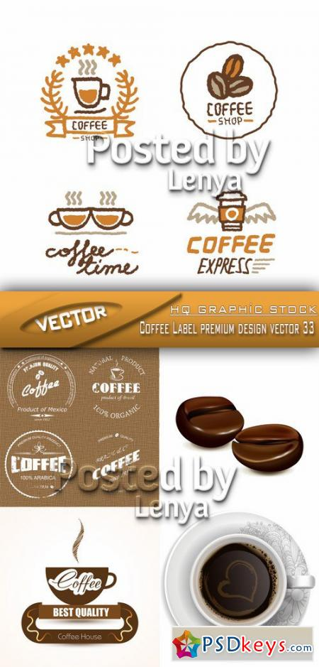 Coffee Label premium design vector 33