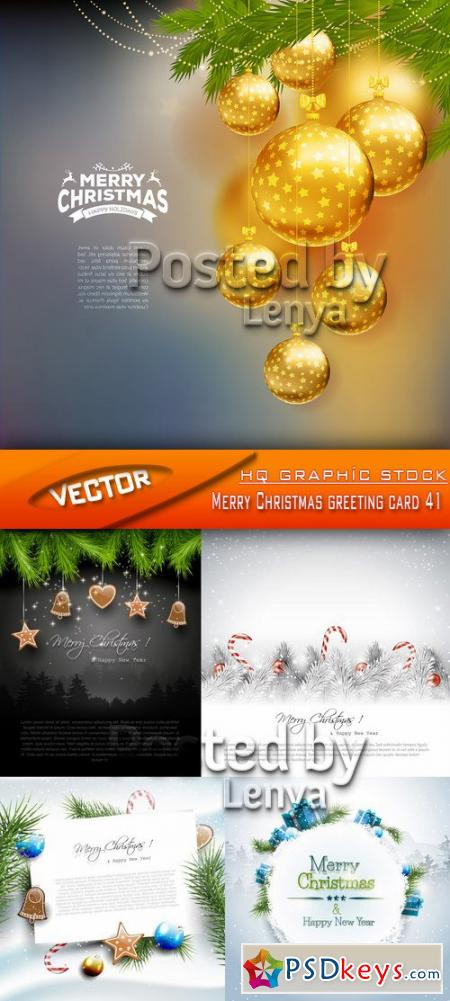 Merry Christmas greeting card 41
