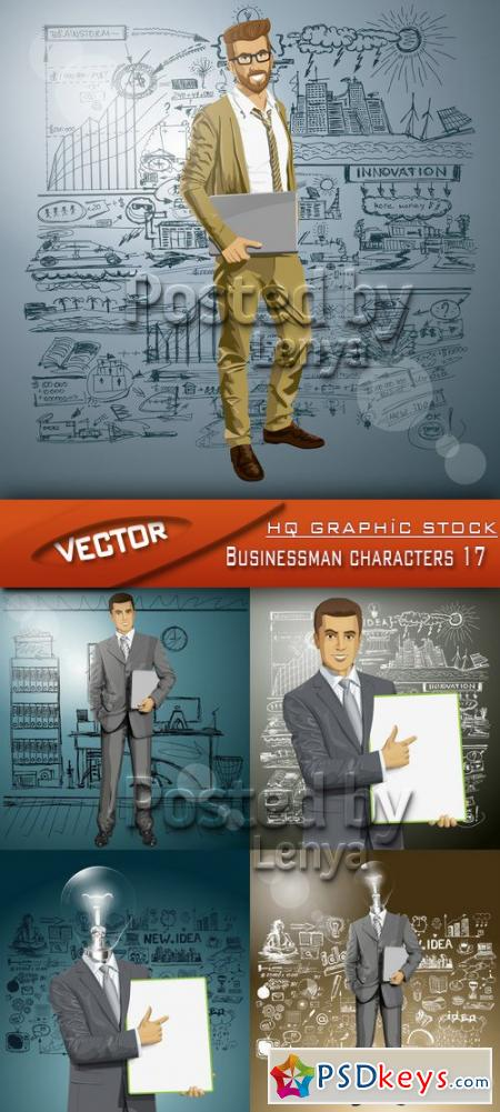 Businessman characters 17