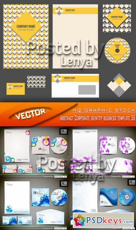 Abstract Corporate identity business template 36