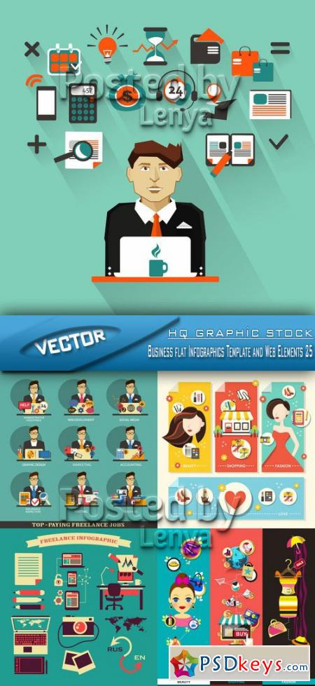 Business flat Infographics Template and Web Elements 25