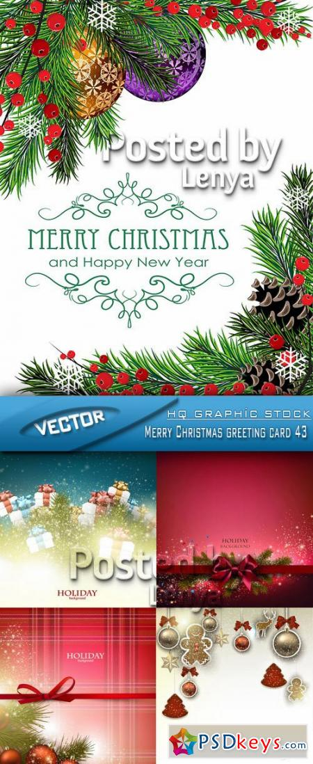 Merry Christmas greeting card 43